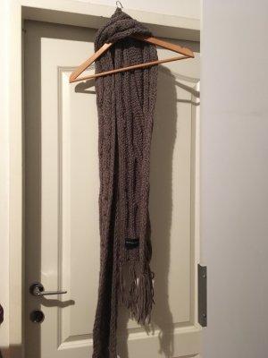 Seeberger Bufanda de lana marrón claro tejido mezclado