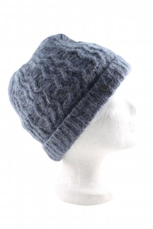 Seeberger Knitted Hat blue casual look