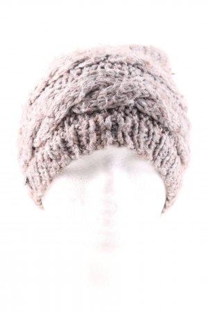 Seeberger Knitted Hat natural white cable stitch casual look