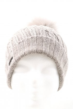 Seeberger Knitted Hat cream cable stitch casual look