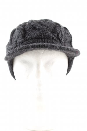 Seeberger Knitted Hat light grey cable stitch casual look