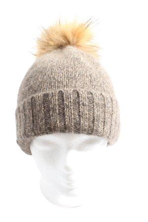 Seeberger Cappello a maglia marrone stile casual