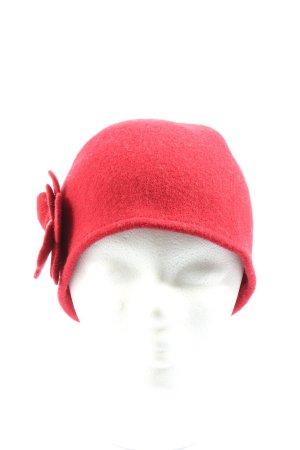Seeberger Chapeau en tricot rouge style décontracté