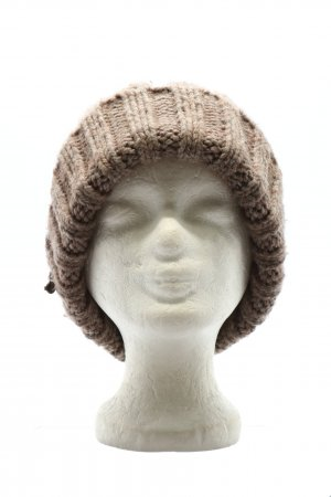 Seeberger Knitted Hat brown cable stitch casual look