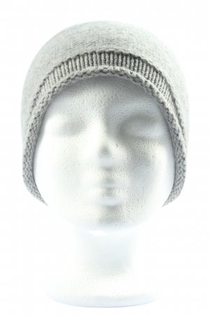 Seeberger Knitted Hat light grey casual look