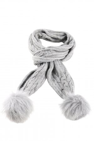 Seeberger Knitted Scarf light grey cable stitch casual look
