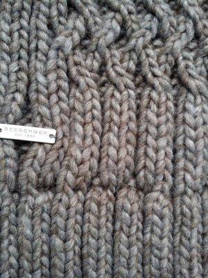 Seeberger Woolen Scarf brown wool