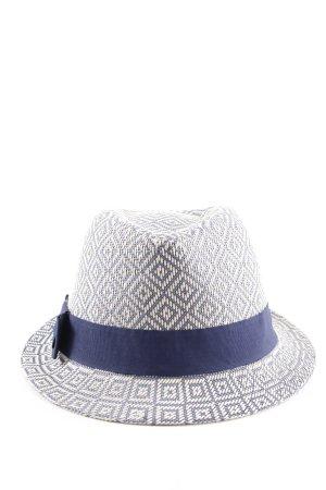 Seeberger Cappello di paglia blu-bianco stile casual