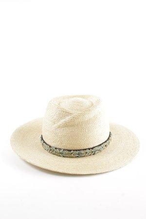 Seeberger Cappello di paglia crema stile casual