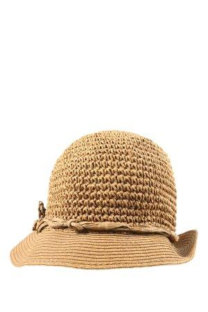 Seeberger Cappello di paglia color carne stile casual