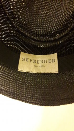 Seeberger Straw Hat black