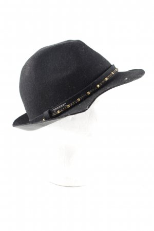 Seeberger Wollen hoed zwart casual uitstraling