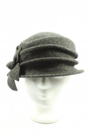 Seeberger Woolen Hat light grey flecked elegant