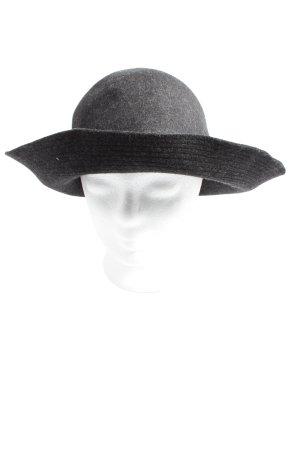 Seeberger Cappello di lana grigio chiaro puntinato stile casual