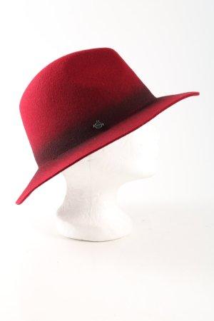 Seeberger Chapeau en laine rouge-noir gradient de couleur style décontracté