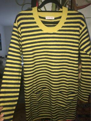 See by Chloé Vestido tipo jersey amarillo pálido-azul oscuro Lana