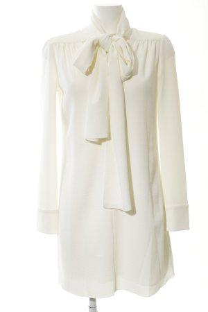 See by Chloé Vestido camisero blanco puro tejido mezclado