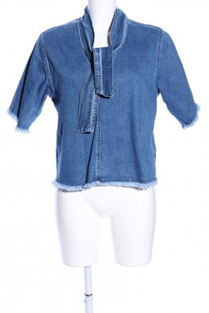 SeeByChloé Blouse en jean bleu moucheté style décontracté