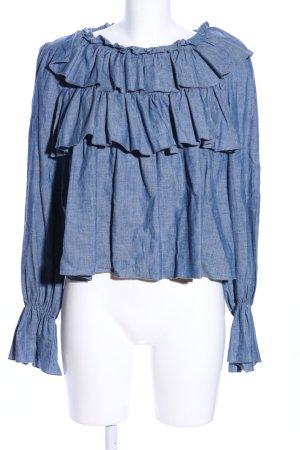 SeeByChloé Langarm-Bluse blau meliert Casual-Look