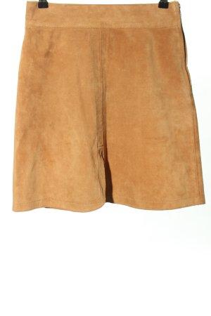 SeeByChloé Falda de cuero naranja claro look casual