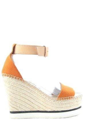 SeeByChloé Platform Sandals light orange-natural white casual look