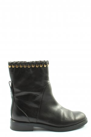SeeByChloé Reißverschluss-Stiefeletten schwarz-goldfarben Casual-Look