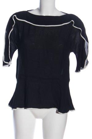 SeeByChloé Schlupf-Bluse schwarz-weiß Casual-Look