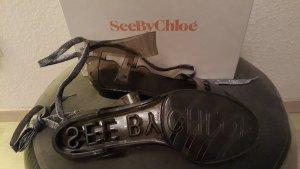 SeeByChloé Transparente Sandalen mit Schnürung an den Fesseln