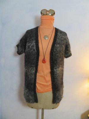 Handmade Short Sleeve Knitted Jacket multicolored