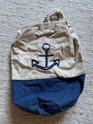 Trekking Backpack cream-dark blue