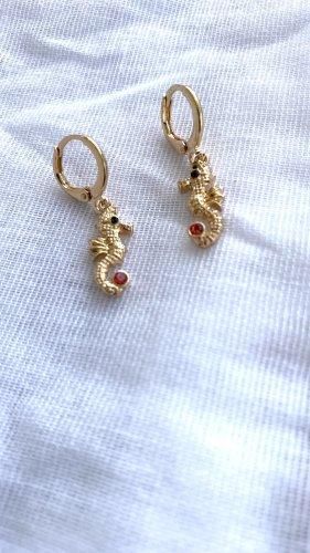 H&M Oorclips goud-rood