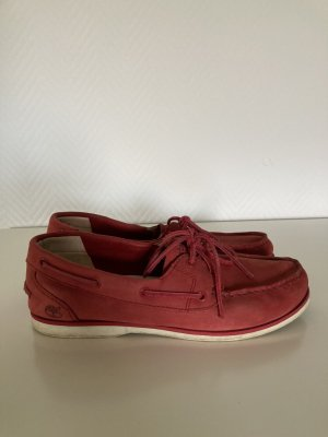 Timberland Chaussures bateau rouge