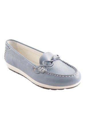 Zapatos de marinero azul aciano-blanco look casual