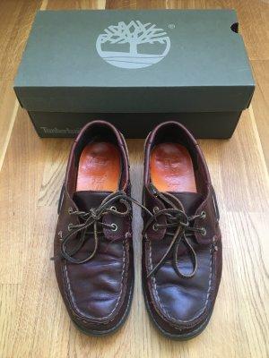 Timberland Chaussures bateau brun noir cuir