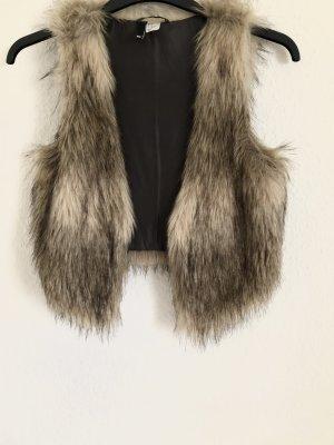 H&M Fur vest bronze-colored