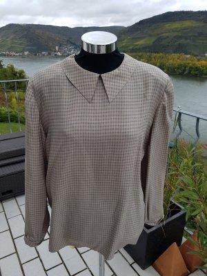 Armani Geruite blouse groen-grijs-lichtbruin