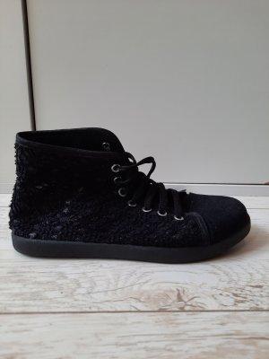 Justine Shoes Wysokie trampki czarny-srebrny