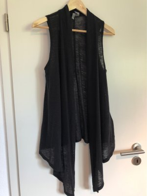 H&M Divided Gilet long tricoté noir