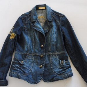 Biba Denim Jacket multicolored cotton