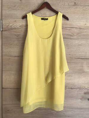 Ann Christine Chiffon Dress yellow-pale yellow