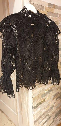 Sehr Elegante Schwarze Bluse Gr36-38