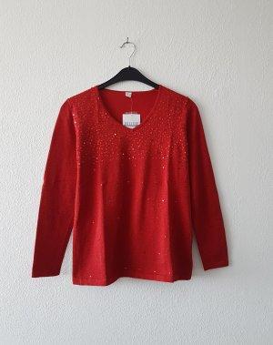 sehr eleganter Pullover von Mode mit Pailletten in Gr. 40
