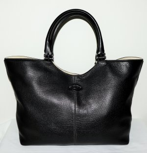 Tod's Tote black-natural white leather