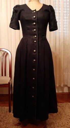 Alphorn Robe à manches courtes noir lin