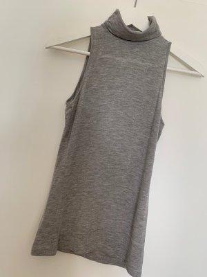H&M Top de cuello de cisne gris claro