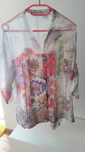 Sehr feine schöne Bluse, Tunika verziert mit glänzende Pailletten von Missy Gr. M/L