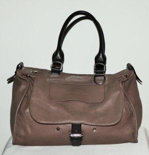Longchamp Sac à main gris brun cuir