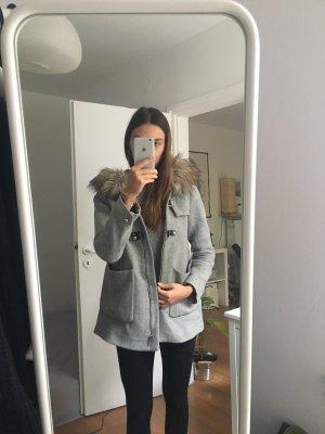 Zara Kurtka zimowa szary-jasnoszary