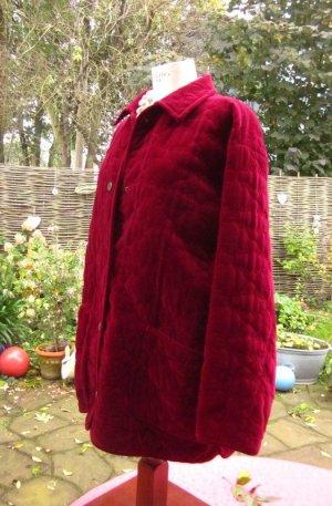 Antonette - Franz Haushofer Veste d'hiver rouge carmin-bordeau tissu mixte