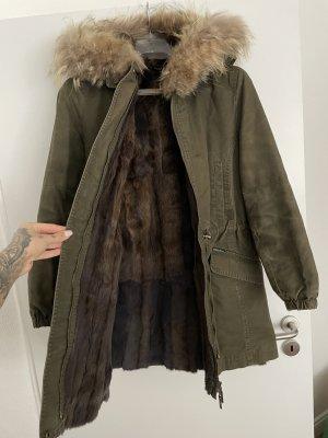 Welovefurs Pelt Coat khaki